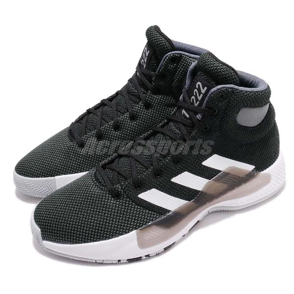 adidas 籃球鞋 Pro Bounce Madness 2019 黑 白 透氣網布鞋面 高筒 運動鞋 男鞋【PUMP306】 BB9239