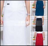 廚師圍裙半身男女圍腰咖啡餐廳飯店服務員黑色廚房工作服圍裙定制LG-882134