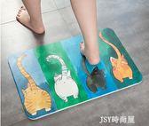 日式卡通硅藻泥地墊浴室吸水門墊衛生間速干硅藻土腳墊防滑墊大號qm    JSY時尚屋