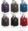 20寸行李包手提旅行包拉桿包女輕便拉包可愛韓版牛津拉桿包旅行袋   草莓妞妞