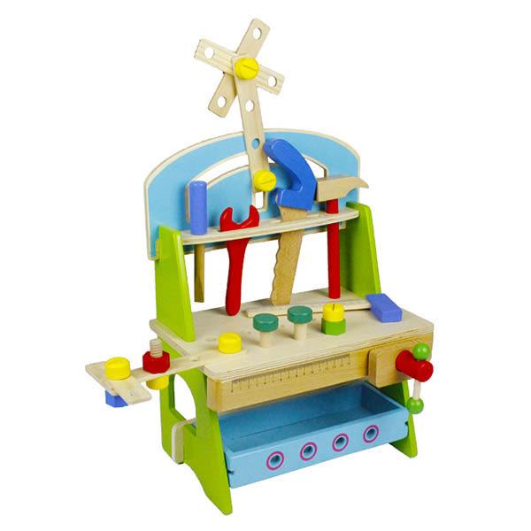 Amuzinc酷比樂 木頭玩具 木質 木製藍色小工具台 15010