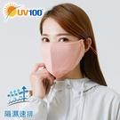 UV100 防曬 抗UV-立體包覆透氣口罩-隔濕速排