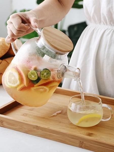 日式玻璃冷水壺套裝耐熱泡茶壺涼開水杯壺家用涼水壺電陶爐壺杯子 淇朵市集