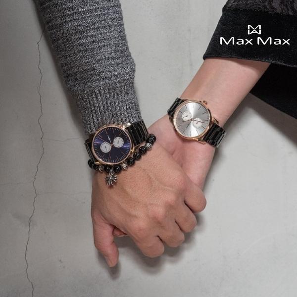 【完全計時】Max Max 原廠公司貨 MAS7022-1 銀白雙眼系列 316L不銹鋼錶帶