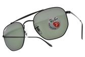 RayBan 太陽眼鏡 RB3648 00258 (黑-綠) 沉穩軍風款 # 金橘眼鏡