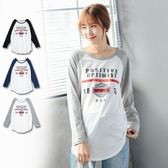 *蔓蒂小舖孕婦裝【M11770】*台灣製.英文字撞色袖T恤