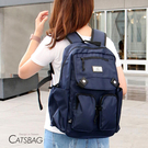 Catsbag 減壓透氣背帶|背部透氣墊|防水尼龍多收納後背包|B00201