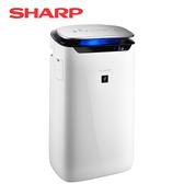 [SHARP 夏普]15坪自動除菌離子空氣清淨機 FP-J60T-W【夜間神秘搶購】