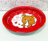 【震撼精品百貨】Rilakkuma San-X 拉拉熊懶懶熊~拉拉熊鐵製置物盤-紅#11089