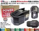 【久大電池】 米沃奇 Milwaukee 電動工具電池 48-11-1000 14.4V 2000mAh 29Wh