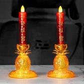 蠟燭燈 LED財神燈供燈 佛台蓮花燈 仙家燈旺財燈 長明燈供佛燈一對包郵 萬聖節狂歡