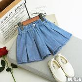 女孩百摺牛仔褲 褲裙 牛仔褲 橘魔法 Baby magic 現貨 女童 褲裙 裙子