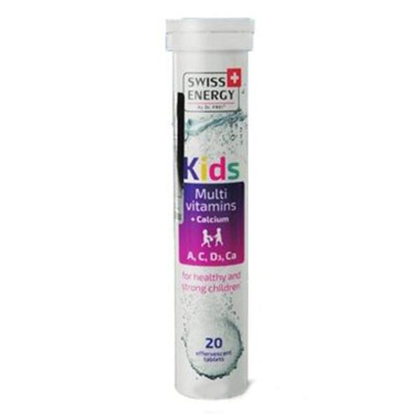 SWISS ENERGY 兒童綜合維他命+鈣發泡錠 20錠入