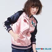 【專櫃新品】日本藍女欶梅緞面棒球外套 - BLUE WAY 日本藍