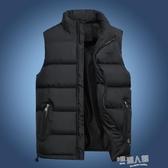 馬甲男秋冬韓版保暖羽絨棉青年馬夾男士加厚背心外套中年大碼坎肩 9號潮人館