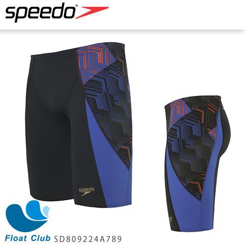 SPEEDO 男人競技及膝泳褲 Allover V Panel 灰藍 34 SD809224A789