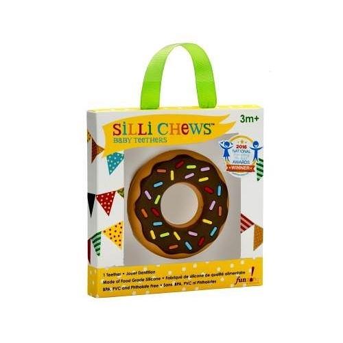 美國 Silli Chews 巧克力甜甜圈咬牙器(固齒器)SC-9[衛立兒生活館]