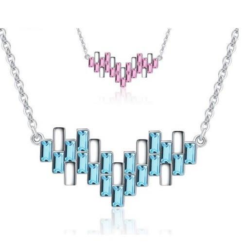跳動琴項鍊 施華洛世奇水晶元素 純銀 水晶 飾品 項鍊 情人節禮物 生日禮物 沂軒精品 F0056