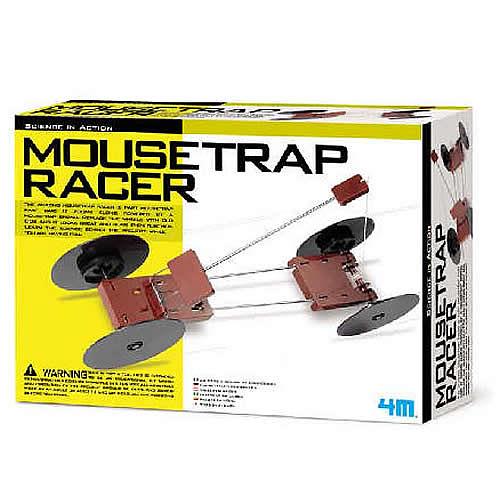 售完絕版【4M】03908 科學探索-趣味捕鼠器改裝賽車 Mousetrap Racer