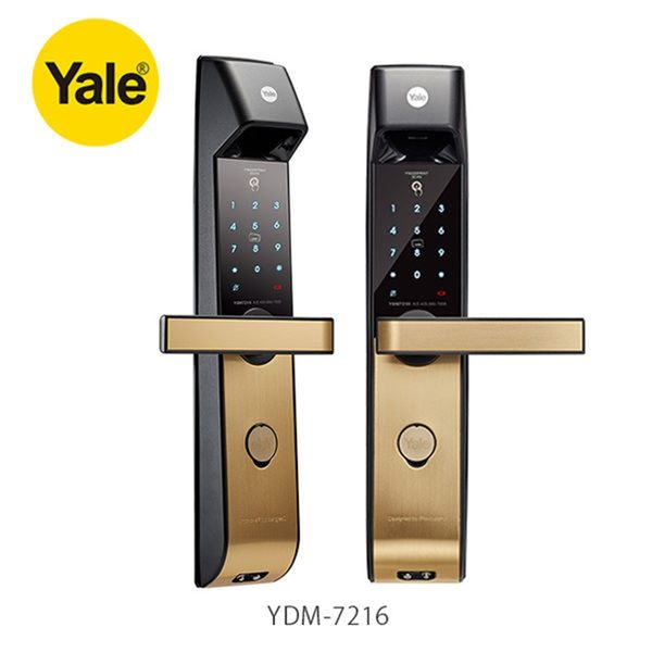 【耶魯YALE電子鎖】YDM-7216指紋鎖 密碼 卡片 藍芽APP 鑰匙五合一 含藍芽/到府安裝服務