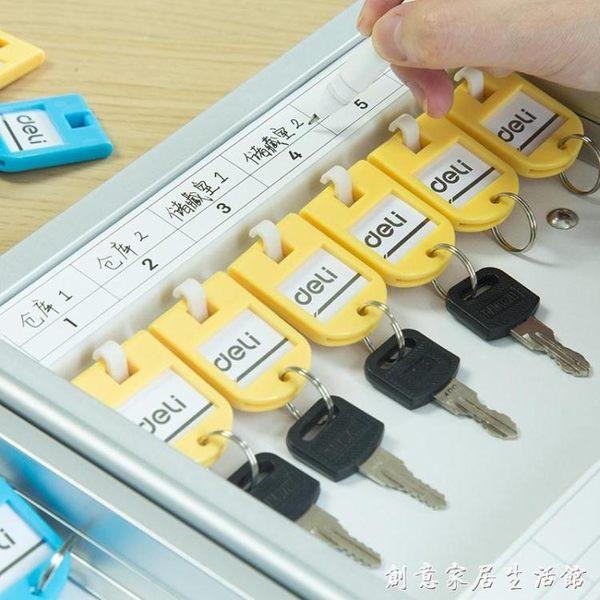 得力鑰匙管理箱壁掛式門放鑰匙柜汽車鑰匙箱收納盒24/48/96/120位WD 創意家居生活館