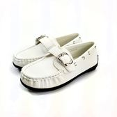 經典爵士  皮面 小紳士皮鞋《7+1童鞋》B309白色