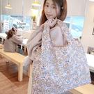 《花花創意会社》外流。達菲粉摺疊大購物袋...