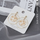 耳環 幾何波浪仿金箔S925耳針&夾式耳環-BAi白媽媽【306164】
