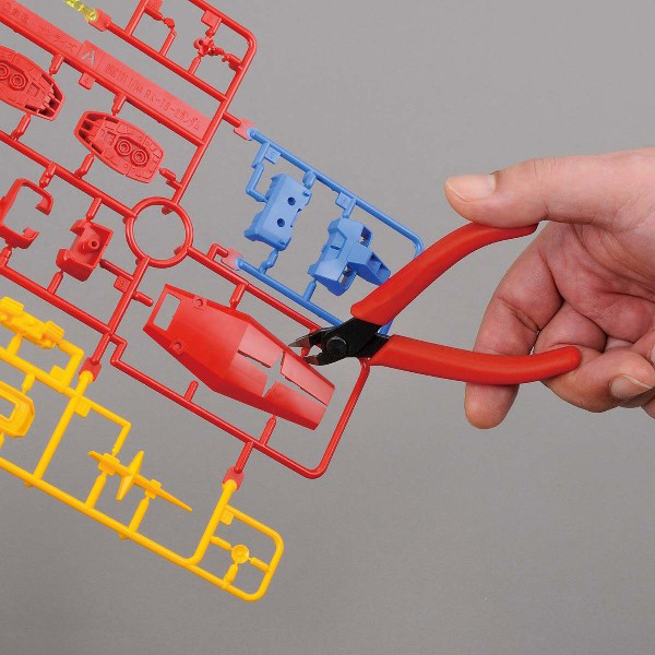 BANDAI 塑膠模型專用 入門斜口鉗 紅色
