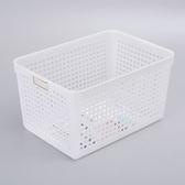 日本製【inomata】4584 可標記收納籃 .整理籃 1入/霧白色