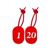 義大文具批發網~W.I.P 寄物用號碼牌(附繩) NO.300 壓克力標示牌 1~50可選擇!