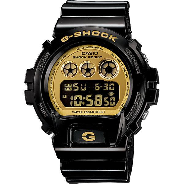 CASIO 卡西歐 G-SHOCK 黑金坦克腕錶 DW-6900CB-1DS / DW-6900CB-1