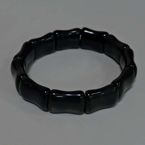 黑曜石竹節手排彈性手環