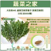 【綠藝家】大包裝A48.齒葉芝麻菜種子(裂葉芝麻菜)20克(約9000顆)