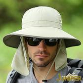 防曬帽子-抗紫外線UV防潑水可對折遮陽高頂漁夫帽+可拆式披風J7244 JUNIPER朱尼博