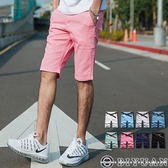 超彈力 休閒短褲【JN3965】OBIYUAN完美合身剪裁 素面休閒褲 共8色