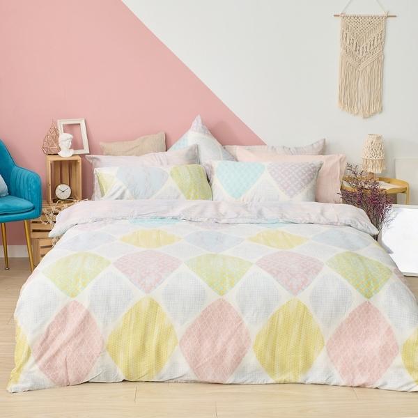 床包 / 雙人【粉彩優格】含兩件枕套 60支天絲 戀家小舖台灣製