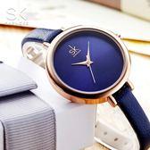 『潮段班』【SB000A05】SHENGKE簡約皮革細錶帶女石英錶日本機芯時尚簡約女錶手錶