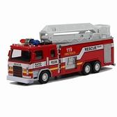 汽車模型 消防車合金模型119救火車兒童玩具車模合金車模型加厚金屬【快速出貨八折鉅惠】