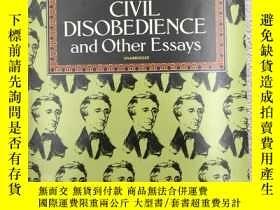 二手書博民逛書店Civil罕見Disobedience and Other Es