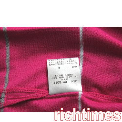 【裕代 Burberry】藍標桃紅色橫紋POLO衫 BB3B4228