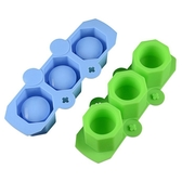 CARMO六角圓口3孔水泥矽膠模具 石膏模具【CI05006】