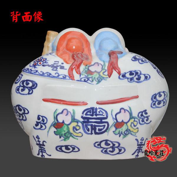 手繪傳統人物雕塑瓷壽公壽婆