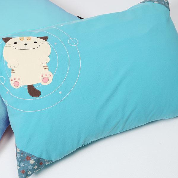 水波蕩漾枕頭套2入一組-天空藍(不含枕心)/抱枕套