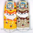 可愛動物系列 松鼠止滑直板襪 (6雙) ~DK襪子毛巾大王