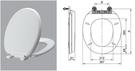 【麗室衛浴】美規圓形白色塑料 I1620 緩降馬桶蓋 A-459-7