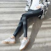 打底褲女外穿秋季新款韓版純棉緊身顯瘦拼接加厚九分大碼小腳秋褲 衣櫥秘密