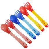 餐具組 安全矽膠嬰幼兒湯叉匙組 高溫會變色 湯匙+叉子 三色 寶貝童衣