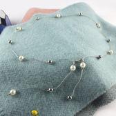 腰鍊新品甜美珍珠細腰鍊女士裝飾腰帶連身裙配毛衣腰帶百搭日韓鍊子 聖誕交換禮物