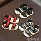 男童涼鞋 兒童涼鞋夏季新款男童寶寶防滑軟底包頭小童嬰兒學步鞋 唯伊時尚